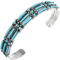 Zuni Needlepoint Turquoise Bracelet 32113