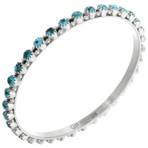 Navajo Turquoise Sterling Silver Bangle 32130