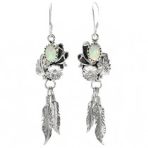 Opal Navajo Feather Earrings 32133