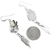 Sterling Silver Opal Earrings 32133