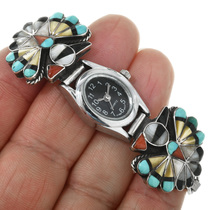 Vintage Zuni Thunderbird Native American Watch 32148