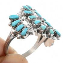 Petite Point Turquoise Zuni Ring 32151