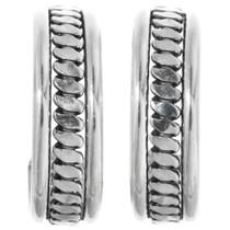Sterling Silver Hoop Earrings 32161