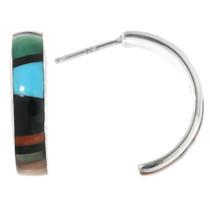 Zuni Half Hoop Post Earrings 32185