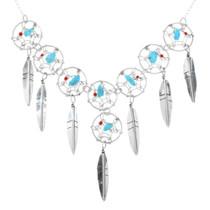 Silver Dreamcatcher Necklace 32205