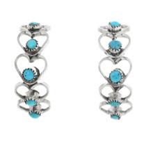 Zuni Turquoise Heart Earrings 32209