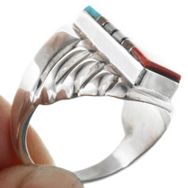 Sterling Silver Inlay Ring 32224