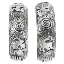 Silver Petroglyph Earrings 32227