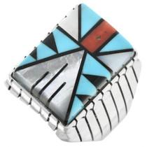 Navajo Geometric Pattern Mens Ring 32234
