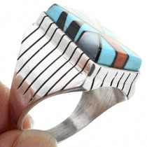 Turquoise Inlay Sterling Silver Ring 32234