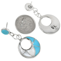 Zuni Turquoise Earrings Artist Signed 32244