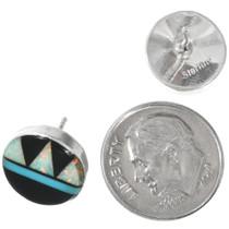 Sterling Silver opal Stud Earrings 32262