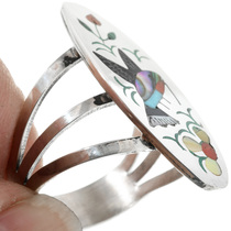 Sterling Silver Hummingbird Zuni Ring 32264