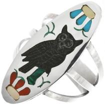 Zuni Inlay Owl Ring 32265