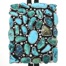 Vintage Natural Turquoise Bolo Tie 32268