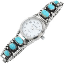 Vintage Turquoise Silver Ladies Watch 32271
