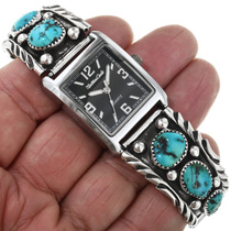 Navajo Hammered Sterling Silver Watch 32272