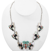 Old Pawn Inlaid Hummingbird Necklace 32279