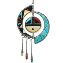 Inlaid Sunface Spinner Necklace 32280