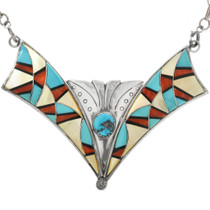 Old Pawn Zuni Inlay Necklace 32281