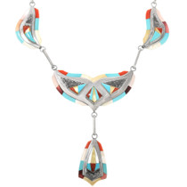 Sterling Silver Turquoise Zuni Necklace 32287