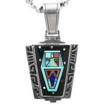 Vintage Turquoise Opal Inlay Pendant 32313