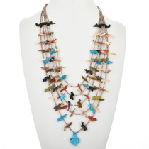 Vintage Zuni Fetish Necklace 32319