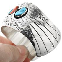 Navajo Sterling Silver Turquoise Bracelet 32356