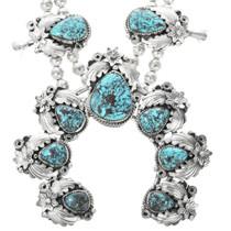 Vintage Native American Turquoise Squash Blossom 32408