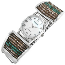 Old Pawn Turquoise Heishi Watch 32410