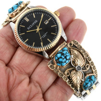 Turquoise Nugget Native American Watch 32411