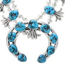 Kingman Turquoise Squash Blossom Necklace 32412