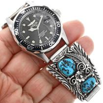 Kingman Turquoise Sterling Silver Watch 32430