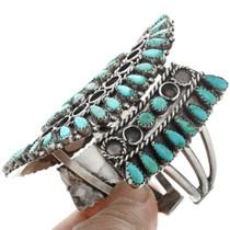 Native American Turquoise Cluster Bracelet 32419