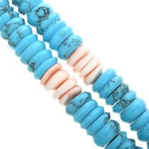 Block Turquoise Shell Jacla Necklace 32422