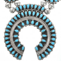 Navajo Sleeping Beauty Turquoise Necklace 32426