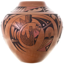 Walpi People Skyband Birds Pottery Art 32429