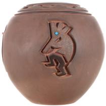 Carved Navajo Kokopelli Pottery 32433
