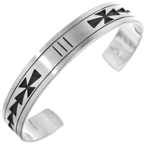 Overlaid Heavy Gauge Sterling Cuff 23234
