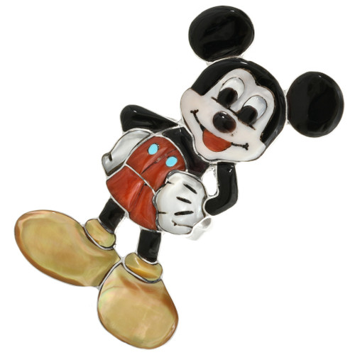 Zuni Inlay Micky Mouse Ring 32132
