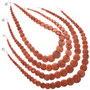 Single Strand Coral Bead Necklace