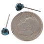 Turquoise Silver Post Earrings 25621