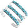 Zuni Turquoise Silver Bracelet 32112