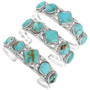 Genuine Turquoise set in Hand Made Bracelet Signed 32127