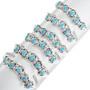 Blue Turquoise Western Cuff Bracelet 32129