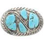 Vintage Native American Turquoise Belt Buckle 32131
