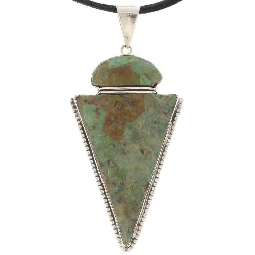 Turquoise arrowhead pendant 25120 turquoise arrowhead pendant navajo silver necklace aloadofball Gallery