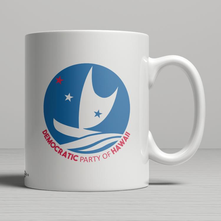 Democratic Party of Hawaii - Circular Logo (11oz. Coffee Mug)