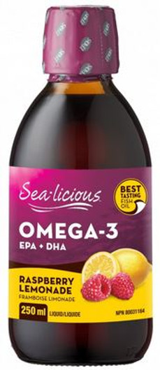Sea-licious Omega 3 Raspberry Lemonade 250 ml