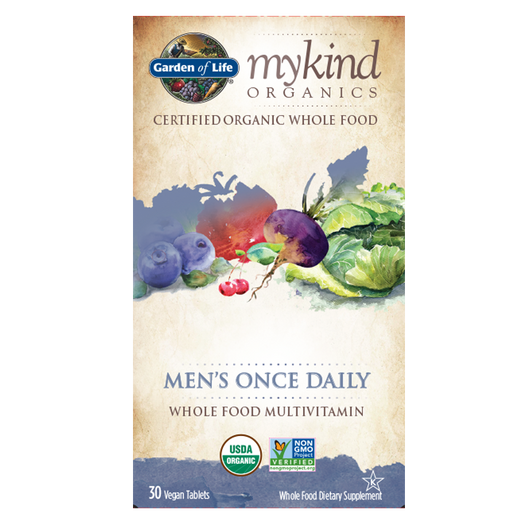 Garden of Life mykind Organic Men's Once Daily Multi 30 Vegan Tablets